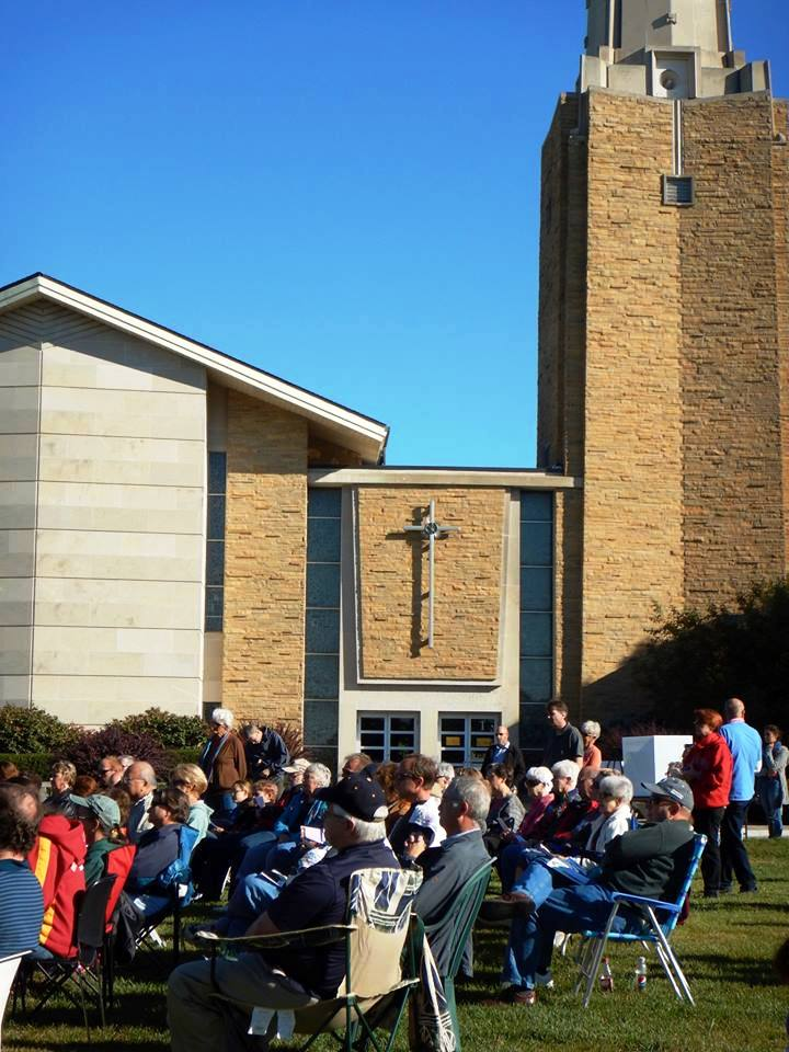 OTOC with First UMC and others gathered for inspiring Prayer for the Planet Sat Sept 19  - 1